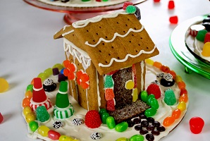 Gingerbread house made out of graham crackers