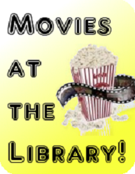 Movies at the library with popcorn