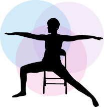 Person doing chair yoga