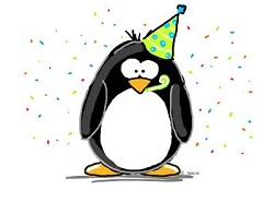 Penguin in a party hat