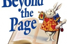 Rabbit on book Beyond the Page logo